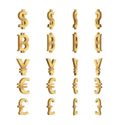 Currency dimension symbols set vector