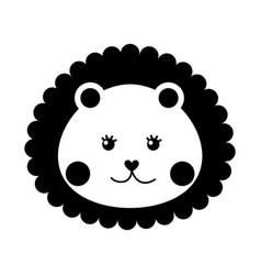 cute baby lion isolated icon vector image vector image