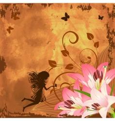 flower fantasy fairy vector image vector image