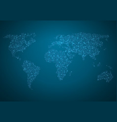Global map world map glowing atlas vector
