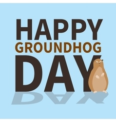 Happy groundhog daylogoiconcute groundhog is vector image vector image