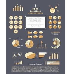 Infographics charts vector
