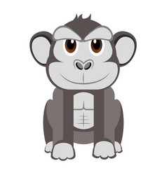 Isolated cute gorilla vector