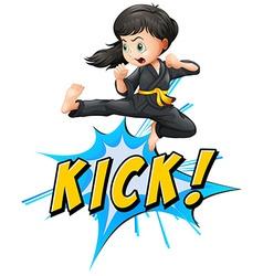 Kick logo vector image vector image