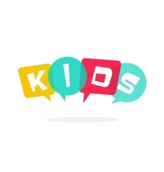 Kids logo children education school vector