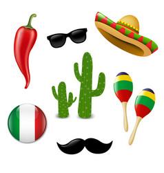 mexican set vector image vector image