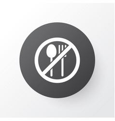 not eating icon symbol premium quality isolated vector image vector image