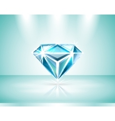 Presentation of a diamond vector image