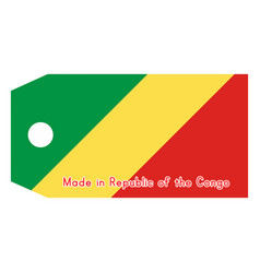 Republic of the congo flag on vector