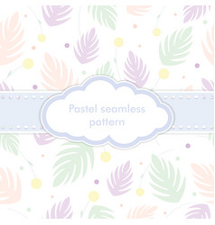 seamless pattern with tender pale pink violet vector image vector image