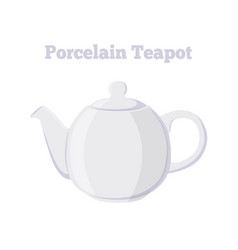 teapot porcelain teakettle cartoon flat style vector image