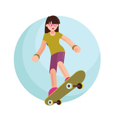 the skater flat style vector image