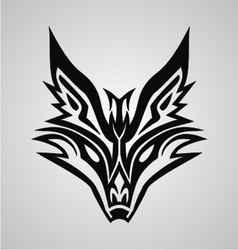 Tribal Fox Face vector image vector image
