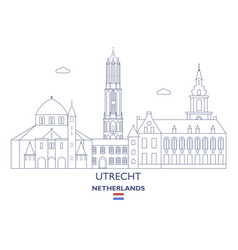 Utrecht city skyline vector