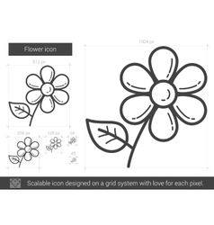 Flower line icon vector