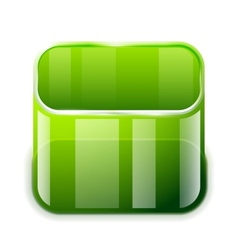 App glass container icon vector