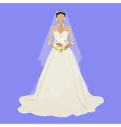 Fashion bride in luxury dress isolated female vector