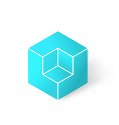 Isometric cubic shape vector