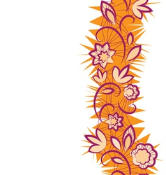 Seamless floral pattern vertical Border vector image