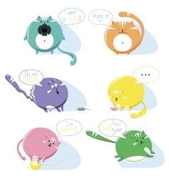 Cats icons vector