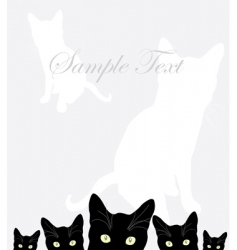 Card with cats vector