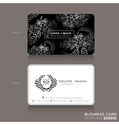 Floral vintage elegant business cards design vector