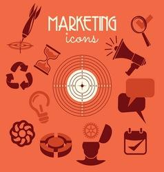 marketing icons2 resize vector image