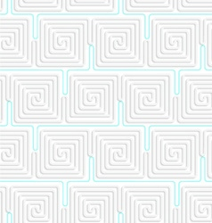 3d white spiral squares with blue vector