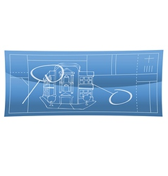 blueprint 2 vector image