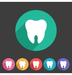 Tooth icon flat web sign symbol logo label vector