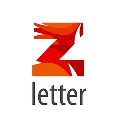 Creative logo colored letter z vector