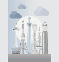 Japan tokyo skytree vector
