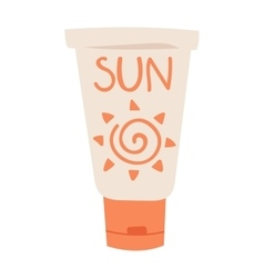 Sunscreen cream vector