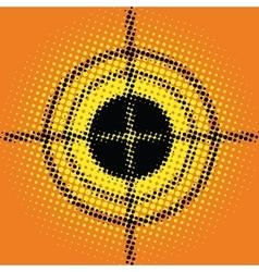 Target pop art style blurred vector