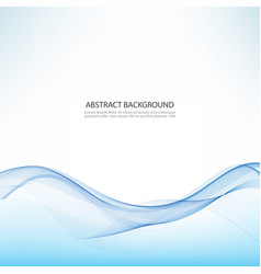 abstract background blue waved lines vector image vector image