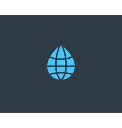 Abstract water drop globe logo design template vector image vector image