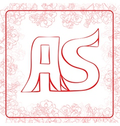 AS monogram vector image