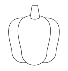 Bell pepper icon vector