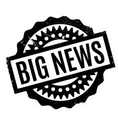 Big news rubber stamp vector
