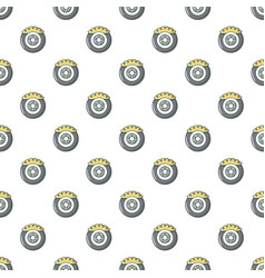 Car disk brake pattern seamless vector
