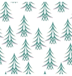 Colored Winter Seamless Pattern vector image