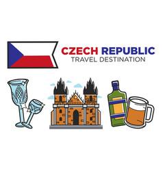 Czech republic travel destination promotional vector