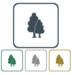 Deciduous forest icon vector