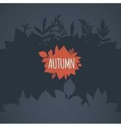 Flat autumn background dark gray leaves vector image vector image