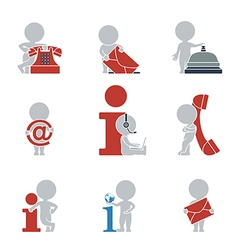 Flat people contacts and Information vector image vector image