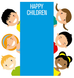 Group of smiling children vector