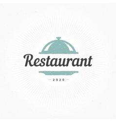 Hand Drawn Restaurant Cloche Design Element vector image vector image