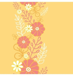 Hot flowers vertical seamless pattern background vector image vector image