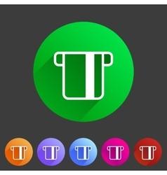 Insert credit card icon flat web sign symbol logo vector