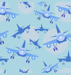kids seamless pattern with airplanes - baby vector image